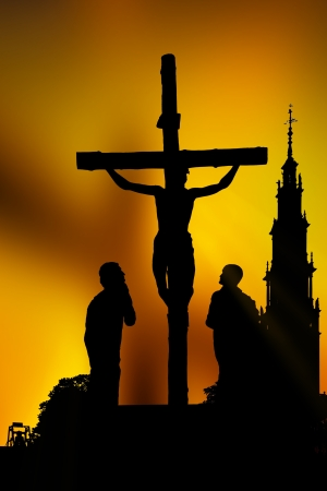 holy week: Calvary crucifixion Stock Photo