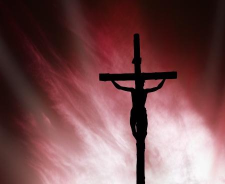 cruz de jesus: Jesús en la cruz Foto de archivo