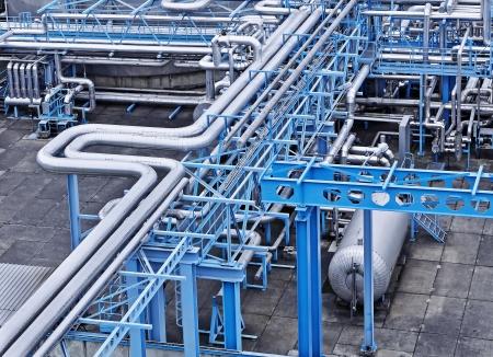 Gas-en olie-industrie Stockfoto