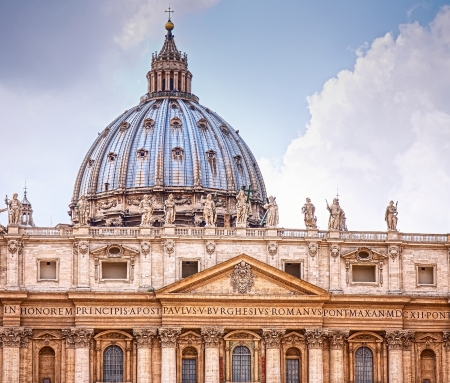 pietro: Basilica in Vatican Stock Photo