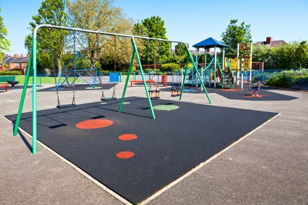 school playground: Children playground in the park Stock Photo