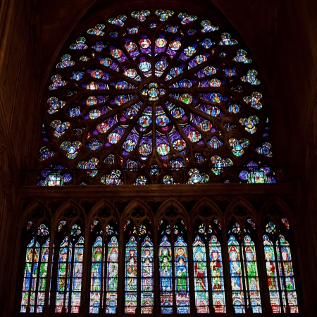 gothic window: Rose window of Notre Dame Cathedral