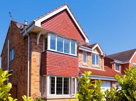 Rode bakstenen huis Stockfoto