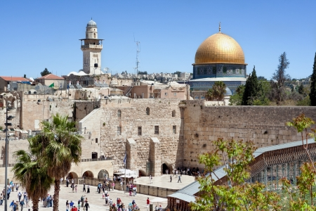 The wailing wall of Jerusalem