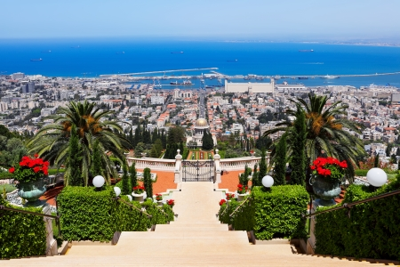 Bahai Gardens in Haifa Israel photo