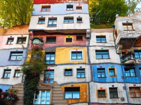 world heritage site: Hundertwasserhaus in Vienna Editorial