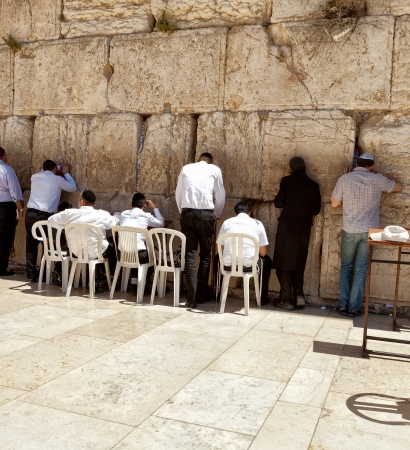 sephardi: Western wall Jerusalem Stock Photo