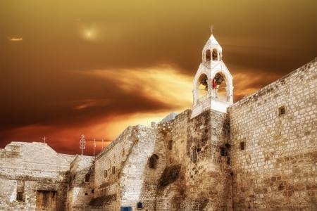 Bethlehem Basiliek van de Geboorte Stockfoto