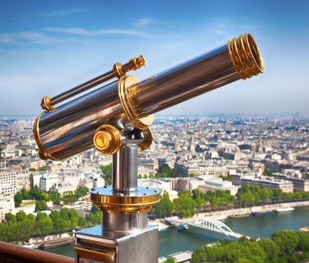 Eiffel Tower telescope photo