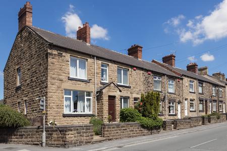 Typisch Engels straat Stockfoto