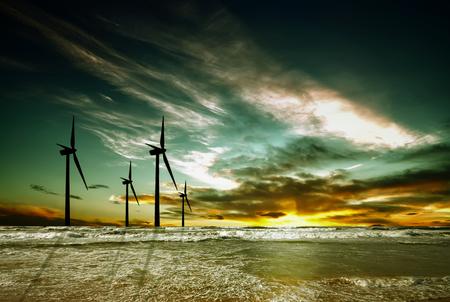 Windpark Standard-Bild