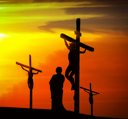 Calvary crucifixion Banque d'images