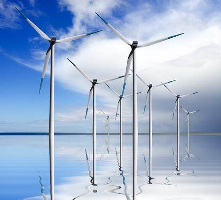 Wind Power turbines 版權商用圖片