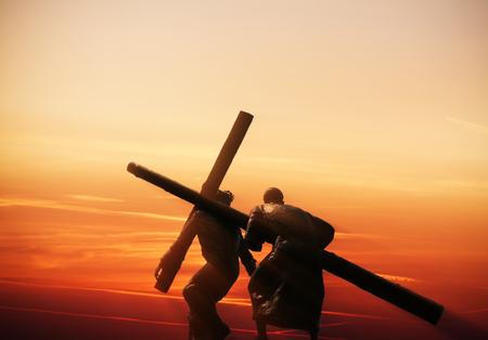 bougie coeur: Crucifixion de J�sus