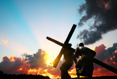 십자가를 들고 그리스도 스톡 콘텐츠