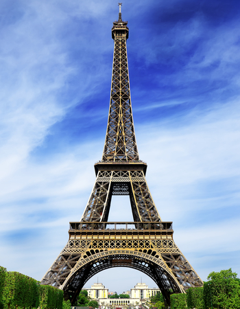 france: The Eiffel Tower in Paris France Stock Photo