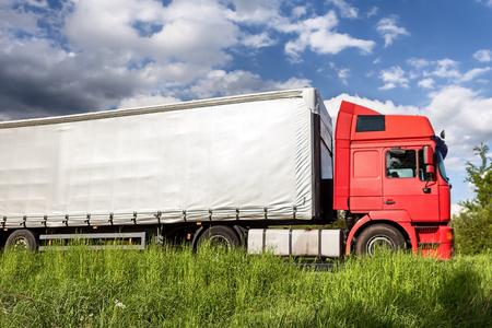 tilt: Trucks on a road