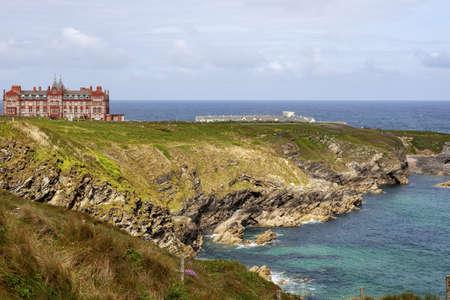A beautiful coast in Newquay United Kingdom