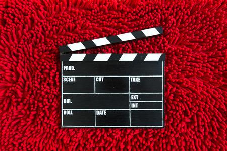 directors cut: Film Slate Stock Photo