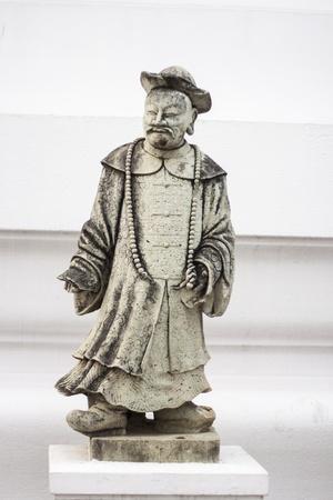 wat bowon: The ancient Chinese nobleman statues  At wat bo-won niwet Bangkok, Thailand Stock Photo