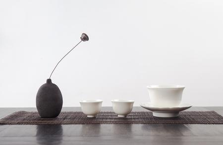 tea set Stockfoto