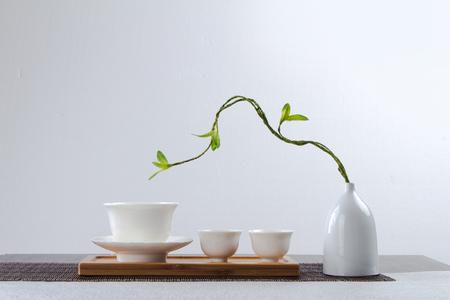 chinese tea set Standard-Bild