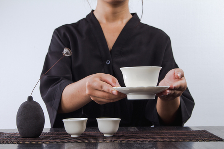 Kung Fu Tea ceremony Banco de Imagens