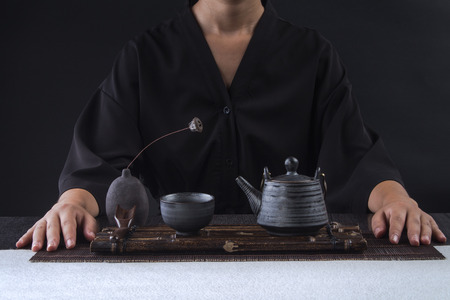 Kung Fu tea ceremony Stock Photo