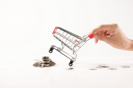 Hand cart on white background