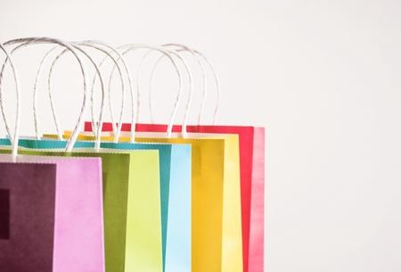 shopping bags on white background Фото со стока
