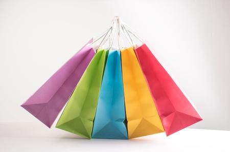 shopping bags on white background Stock Photo