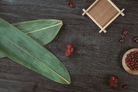 zongzi leaves, red beans and red dates