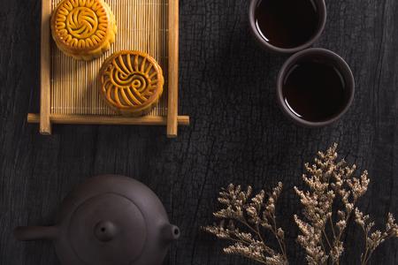 Moon cake and tea ceremony
