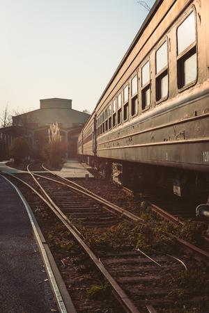 A running train