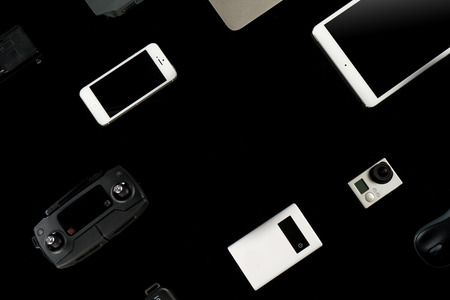 Electronics mobile, IT, camera equipment Editorial