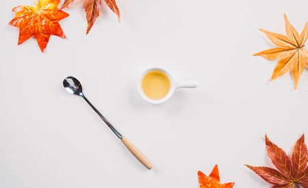 Creative autumn tabletop placement Stock Photo