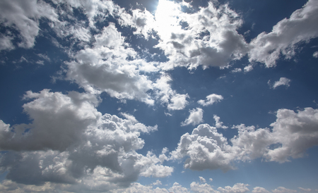 Landscape view of white cloud in the blue sky