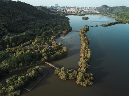 Aerial landscape view of a park Reklamní fotografie