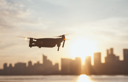 Close up view of a drone