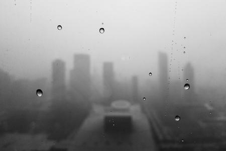 Rain drops on the windscreen