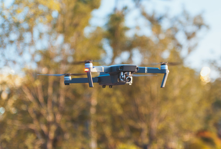 Unmanned aerial vehicle in flight