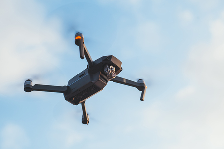 Aerial drone in the sky