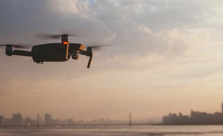 UAV aerial photograph city