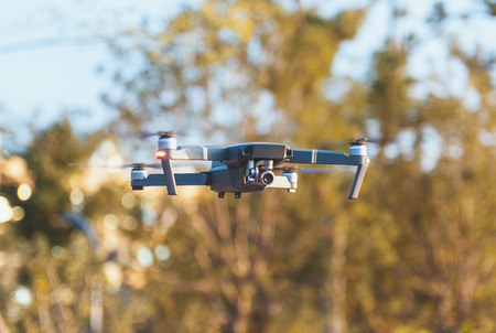 close up view of a flying drone Archivio Fotografico - 96283646