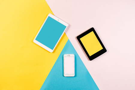 Colorful young digital products Stock Photo