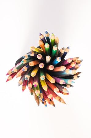 Color pencil and stationery Фото со стока
