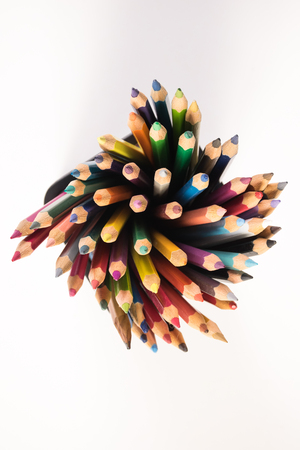 Color pencil and stationery Stock Photo