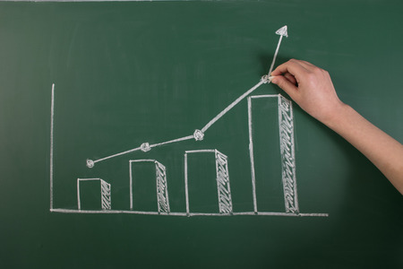 Performance rising blackboard painting