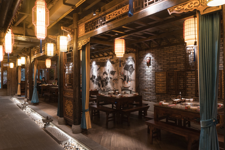 Decoration design of hot pot shop