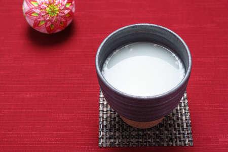 non-alcoholic rice drink (Japanese 'Amazake')